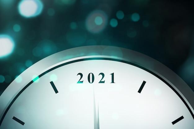 Wachten op 2021. gelukkig nieuwjaar 2021