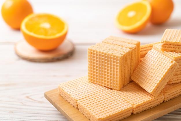 Wafel met sinaasappelcrème