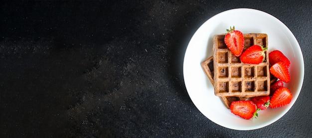Wafels belgisch dessert zoet eten