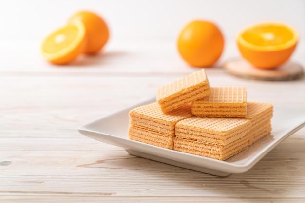 Wafer met sinaasappelcrème