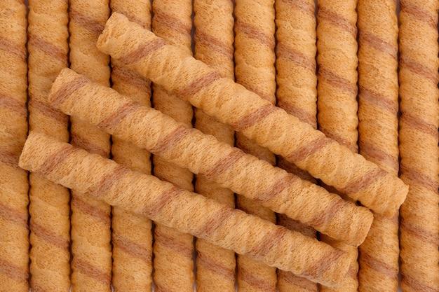 Wafer roll sticks, weergave van bovenaf.