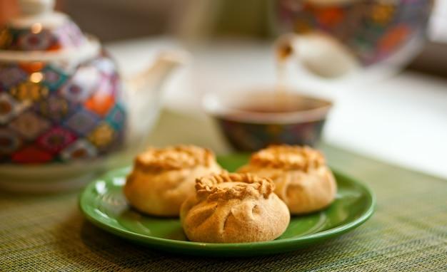 Wak belyash-eten uit de kazachse, bashkir- en tataarse keuken.