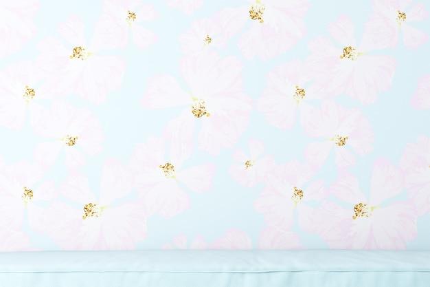 Wallpaper blauwe bloemen achtergrond voor foto's producten tassen caps