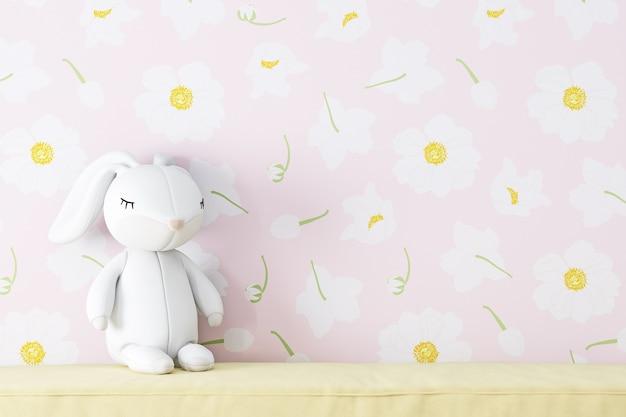 Wallpaper roze bloemen achtergrond voor foto's producten tassen caps kids mockup