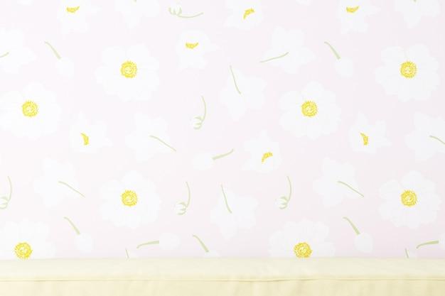 Wallpaper roze bloemen achtergrond voor foto's producten tassen caps
