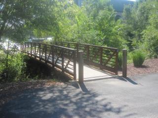 Wandeling door brug