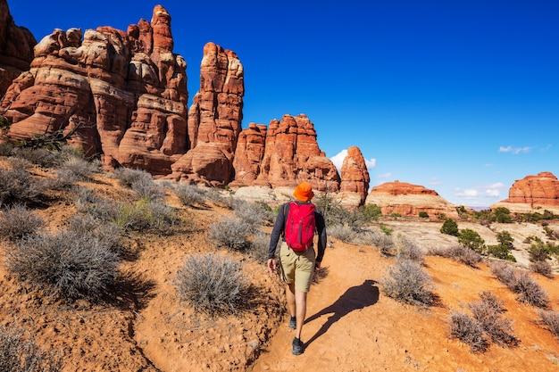 Wandeling in de bergen van utah