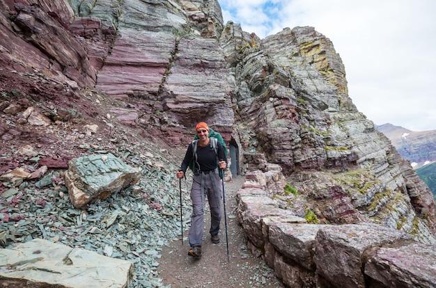 Wandeling in glacier national park, montana
