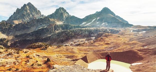 Wandeling in grand teton national park, vs, wyoming