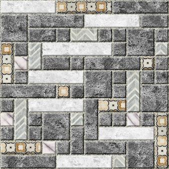 Wandtegels met marmerpatroon. stenen mozaïek. element voor het ontwerp van de muren. wallpaper achtergrond structuur