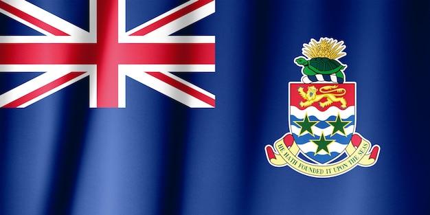 Wapperende vlag van caymaneilanden realistisch
