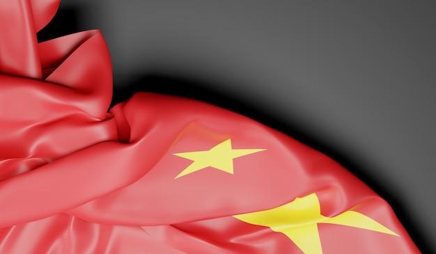 Wapperende vlag van china. 3d-rendering