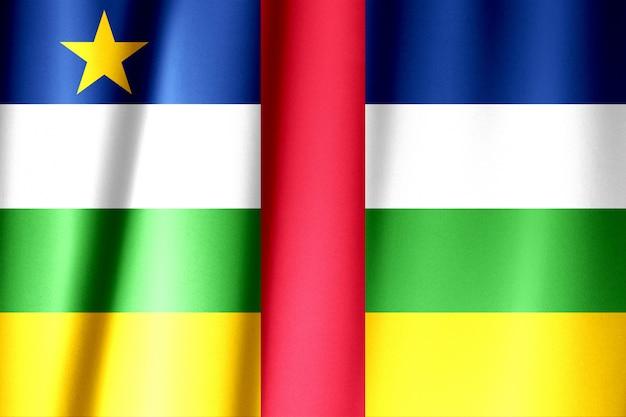 Wapperende vlag van de centraal-afrikaanse republiek