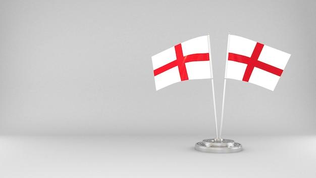 Wapperende vlag van engeland 3d render achtergrond