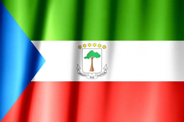 Wapperende vlag van equatoriaal-guinea