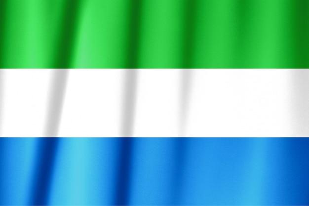Wapperende vlag van sierra leone