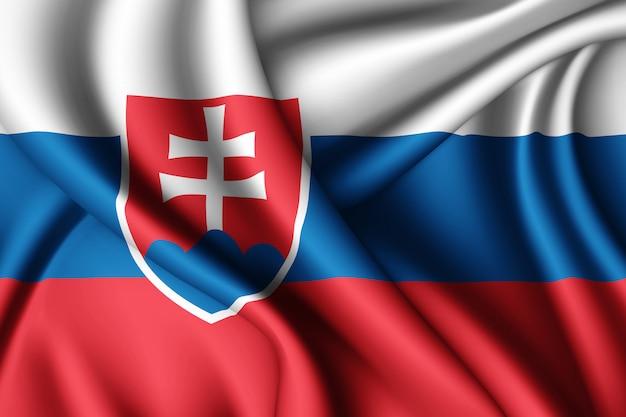 Wapperende vlag van slowakije