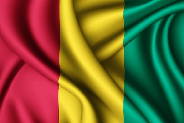 Wapperende zijden vlag van guinee