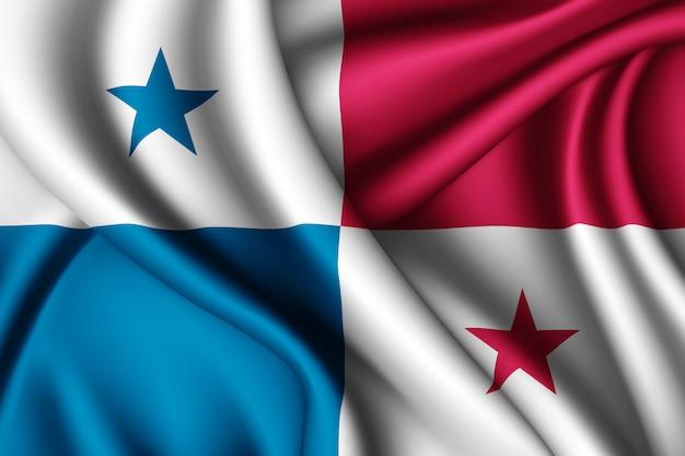 Wapperende zijden vlag van panama