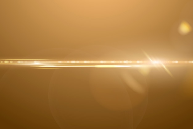 Warme anamorfe lensflare-achtergrond