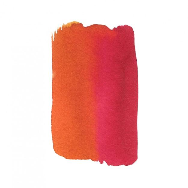 Warme aquarel achtergrond. abstracte textuur die op wit wordt geïsoleerd. afdrukbare aquarel achtergrond in rode en oranje kleuren.