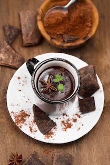 Warme chocolademelk aromatische drank