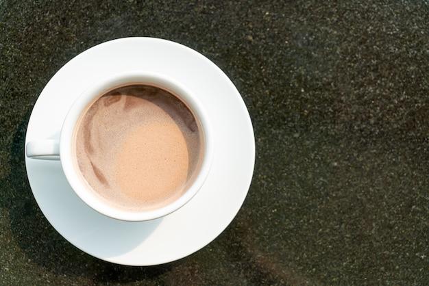 Warme chocolademelk of cacaokop