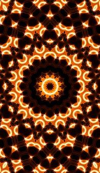 Warme gele caleidoscoop. herfst spiraal tie dye print. caleidoscopische textuur. zigeuner jurk. warme kleuren kleurenmix ontwerp. warme kleuren indonesisch. bright hippies swirl design verticale afbeelding