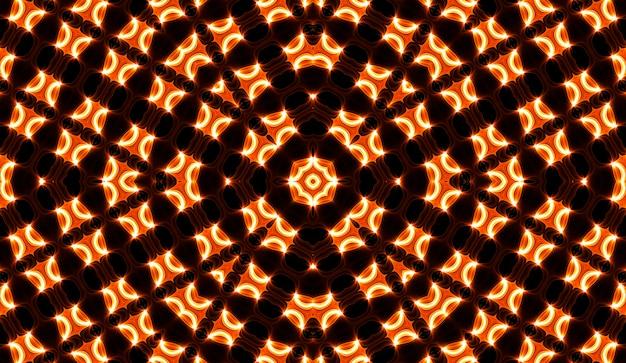 Warme gele caleidoscoop. herfst spiraal tie dye print. caleidoscopische textuur. zigeuner jurk. warme kleuren kleurenmix ontwerp. warme kleuren indonesisch stoffenontwerp. heldere hippies wervelen kleurrijk ontwerp