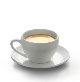 Warme koffie op de tafel