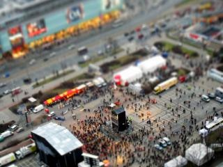 Warschau tilt shift
