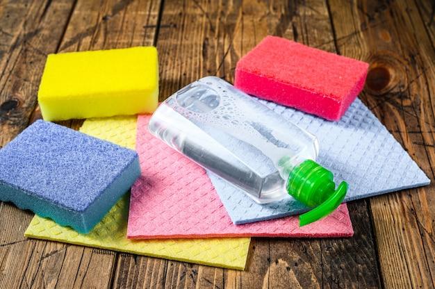 Was- en schoonmaakspullen, huishoudelijke artikelen voor de voorjaarsschoonmaak