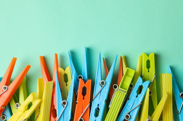 Wasknijpers op munt, ruimte voor tekst
