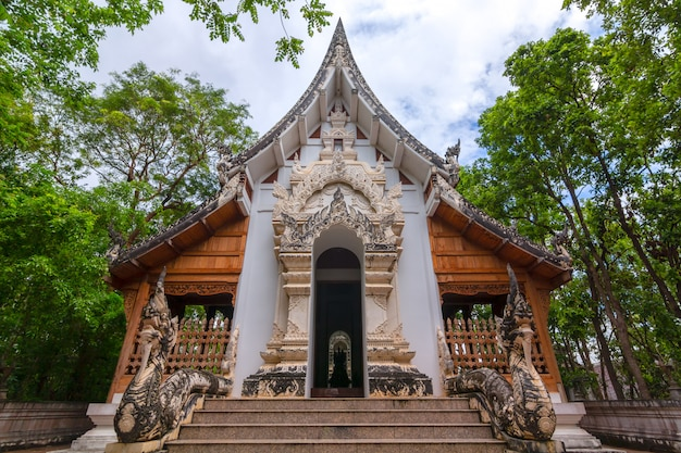 Wat analayo thipphayaram of analayo tempel ligt op doi busarakam, provincie phayao, thailand