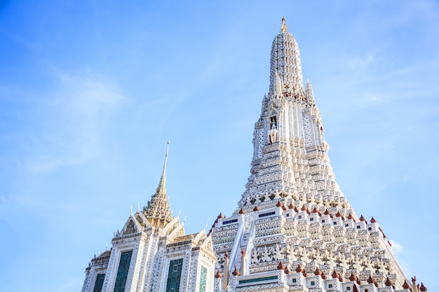 Wat arun (de tempel van de dageraad) in bangkok is een boeddhistische tempel