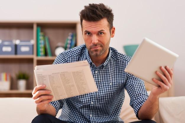 Wat is beter? nieuws van digitale tablet of krant?