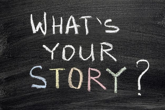Wat is uw verhaalvraag op bord geschreven