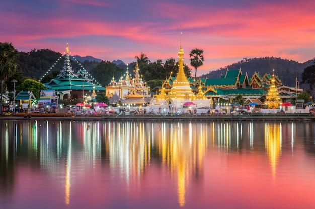 Wat jongklang en wat jongkham in het noorden van thailand