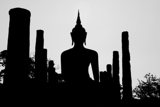 Wat mahathat is een tempel in de stad sukhothai sinds de oudheid