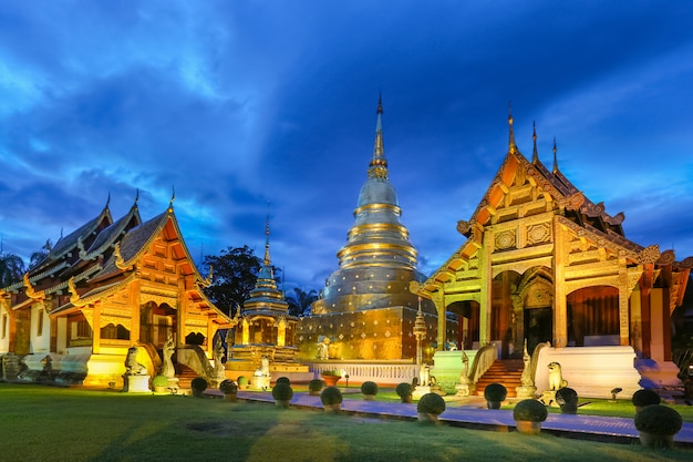 Wat phra singh-tempel in de provincie chiang mai, thailand,