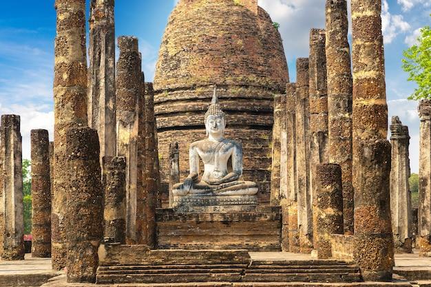 Wat sa si-tempel in het historische park van sukhothai in thailand