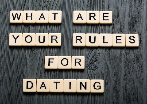Wat zijn jouw regels voor daten? kaart met hart bokeh achtergrond