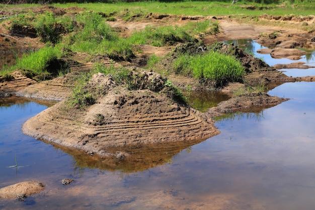 Water in oude steengroeve