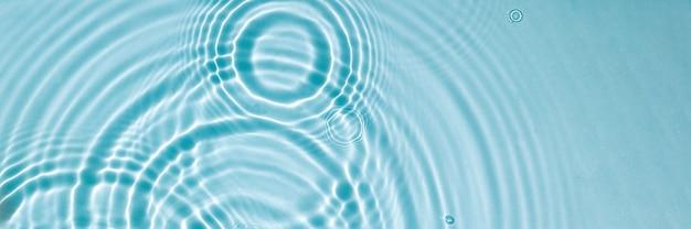 Water textuur oppervlak met ringen rimpelingen spa concept achtergrond banner