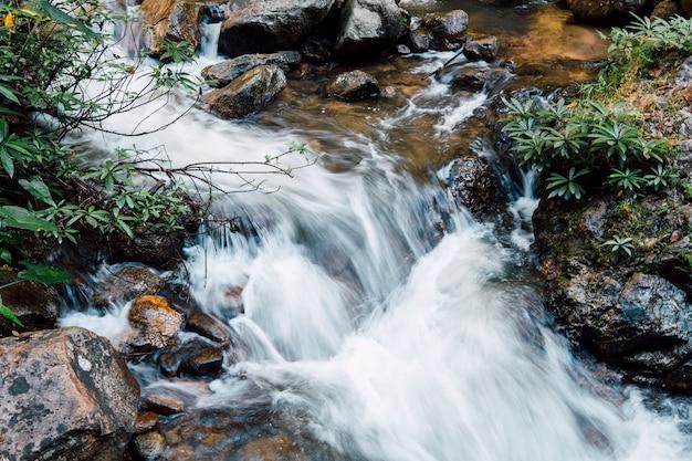 Water valt naar de rivier