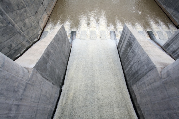Water van de poort dam