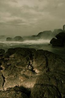 Water voldoet aan de oceaan, de natuur