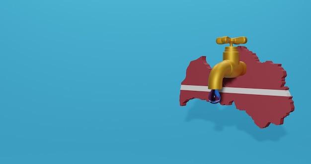 Watercrisis en droog seizoen in letland voor infographics in 3d-rendering