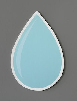 Waterdruppel uitgeknipt pictogram