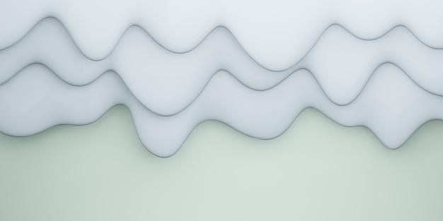 Waterdruppel vorm kromme achtergrond afwisselend verschillende lagen pastelkleuren 3d illustratie